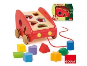 Coche de arrastre y encajable - Juegos infantiles